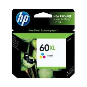Original HP 60XL Tricolor ink cartridge, High Yield, CC644WN