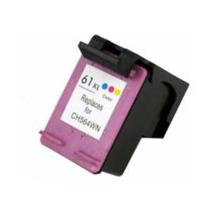 Remanufactured HP 61XL Tricolor ink cartridge, High Yield, CH564WN