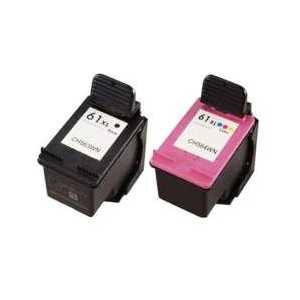 Remanufactured HP 61XL ink cartridges, 2 pack