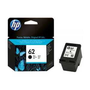 Original HP 62 Black ink cartridge, C2P04AN