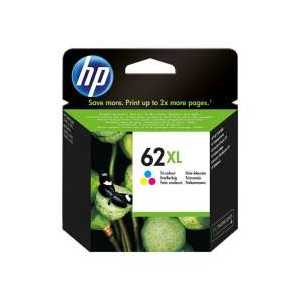 Original HP 62XL Tricolor ink cartridge, High Yield, C2P07AN