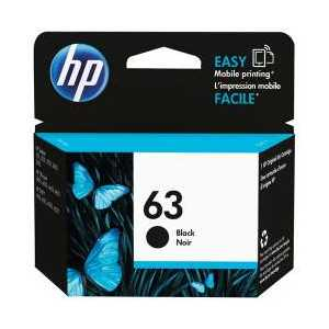 Original HP 63 Black ink cartridge, F6U62AN
