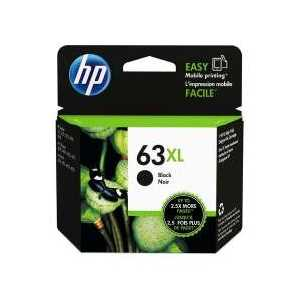 Original HP 63XL Black ink cartridge, High Yield, F6U64AN
