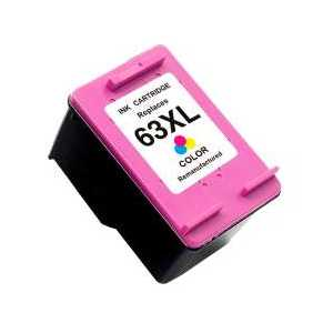Remanufactured HP 63XL Tri-color ink cartridge, High Yield, F6U63AN