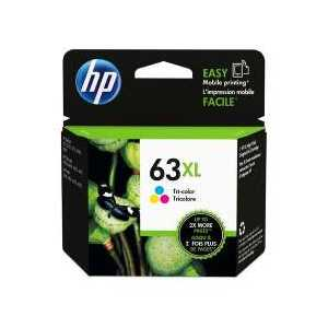 Original HP 63XL Color ink cartridge, High Yield, F6U63AN