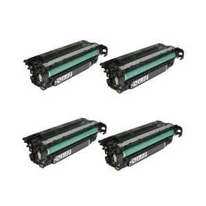 Compatible HP 649X toner cartridges, High Yield, 4 pack