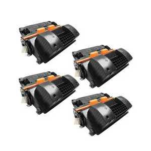 Compatible HP 64X toner cartridges, High Yield, CC364X, 4 pack
