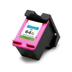 Remanufactured HP 64XL Tri-color ink cartridge, High Yield, N9J91AN