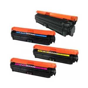 Remanufactured HP 650A toner cartridges, 4 pack