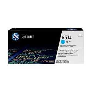 Original HP 651A Cyan toner cartridge, CE341A, 16000 pages