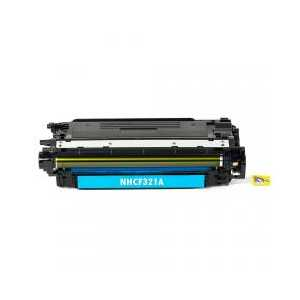 Remanufactured HP 653A Cyan toner cartridge, CF321A, 16500 pages
