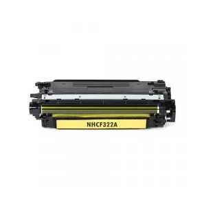Remanufactured HP 653A Yellow toner cartridge, CF322A, 16500 pages
