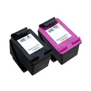 Remanufactured HP 65XL ink cartridges, 2 pack