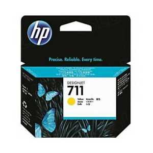 HP 711 Yellow genuine OEM ink cartridge - CZ132A
