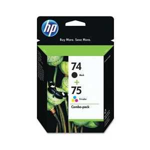 Multipack - HP 74 / HP 75 genuine OEM ink cartridges - CC659FN - 2 pack