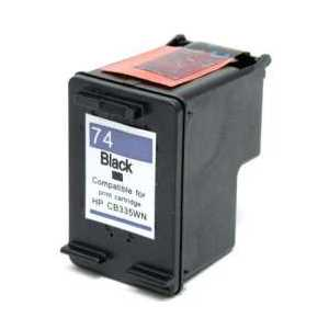 Remanufactured HP 74 Black ink cartridge, CB335WN