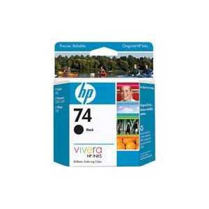 Original HP 74 ink cartridge, CB335WN