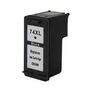 Remanufactured HP 74XL Black ink cartridge, High Yield, CB336WN