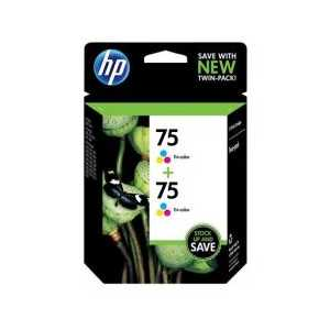 Multipack - HP 75 genuine OEM ink cartridges - CZ070FN - 2 pack