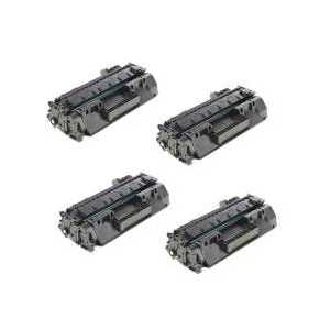 Compatible HP 80X toner cartridges, High Yield, CF280X, 4 pack