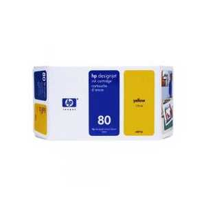Original HP 80XL Yellow ink cartridge, High Yield, C4848A