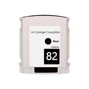 Remanufactured HP 82 Black ink cartridge, CH565A