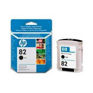 Original HP 82 Black ink cartridge, CH565A