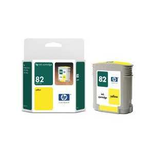 HP 82 Yellow genuine OEM ink cartridge - CH568A