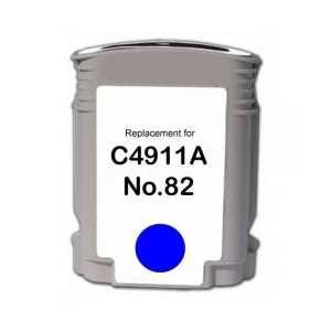 Remanufactured HP 82XL Cyan ink cartridge, High Yield, C4911A