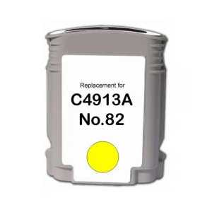 Remanufactured HP 82XL Yellow ink cartridge, High Yield, C4913A