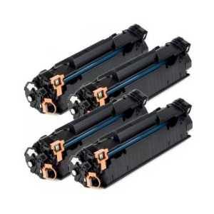Remanufactured HP 85A toner cartridges, 4 pack