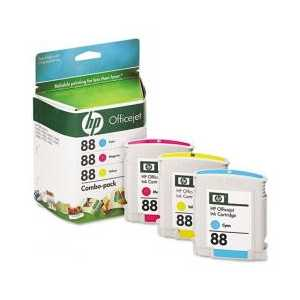 Multipack - HP 88 genuine OEM ink cartridges - CC606FN - 3 pack