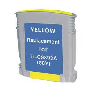 Remanufactured HP 88XL Yellow ink cartridge, High Yield, C9393AN