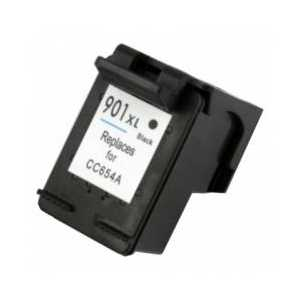 Remanufactured HP 901XL Black ink cartridge, High Yield, CC654AN