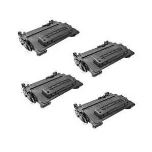 Compatible HP 90X toner cartridges, High Yield, CE390X, 4 pack