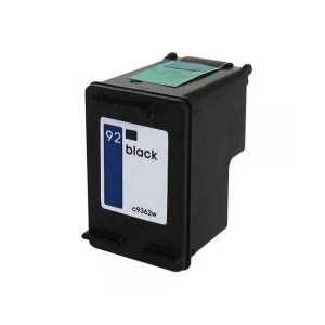 Remanufactured HP 92 Black ink cartridge, C9362WN