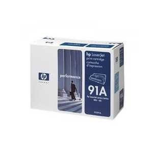 Original HP 91A Black toner cartridge, 92291A, 8000 pages
