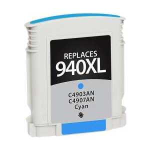 Remanufactured HP 940XL Cyan ink cartridge, High Yield, C4907AN