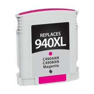 Remanufactured HP 940XL Magenta ink cartridge, High Yield, C4908AN