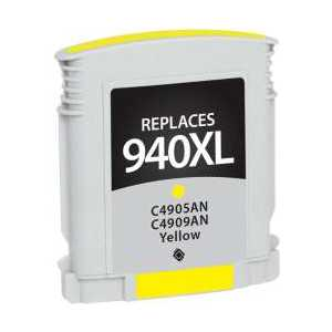 Remanufactured HP 940XL Yellow ink cartridge, High Yield, C4909AN