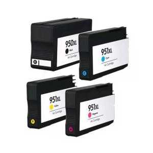 Multipack - HP 950XL / HP 951XL remanufactured ink cartridges with INK LEVEL - 4 pack