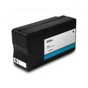 HP 950XL Black High Yield remanufactured ink cartridge with INK LEVEL - CN045AN