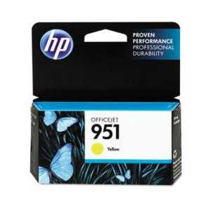 Original HP 951 Yellow ink cartridge, CN052AN
