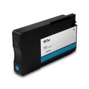 HP 951XL Cyan High Yield remanufactured ink cartridge with INK LEVEL - CN046AN