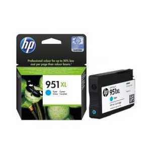 Original HP 951XL Cyan ink cartridge, High Yield, CN046AN