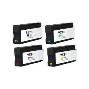 Remanufactured HP 952XL ink cartridges, 4 pack