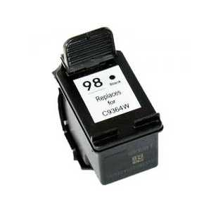 Remanufactured HP 98 Black ink cartridge, C9364WN