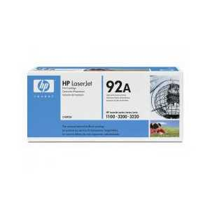 Original HP 92A Black toner cartridge, C4092A, 2500 pages
