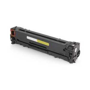 Remanufactured HP 125A Yellow toner cartridge, CB542A, 1400 pages
