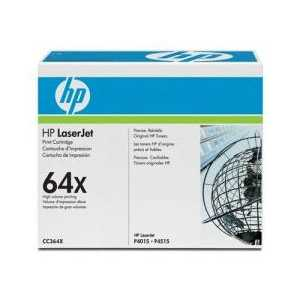 Original HP 64X Black toner cartridge, High Yield, CC364X, 24000 pages